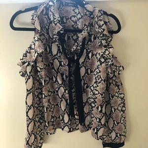 Snake skin print blouse